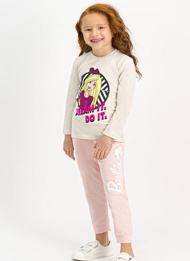 Barbie Pijama Takım Bej